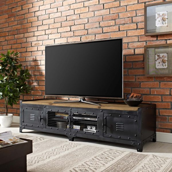 "Dungeon 63"" TV Stand in Black"