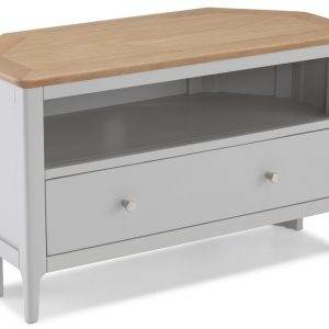 Almstead Painted Corner TV Unit with Drawer
