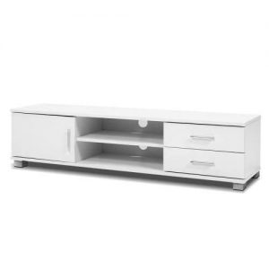 120cm TV Stand Entertainment Unit Storage Cabinet Drawers Shelf White